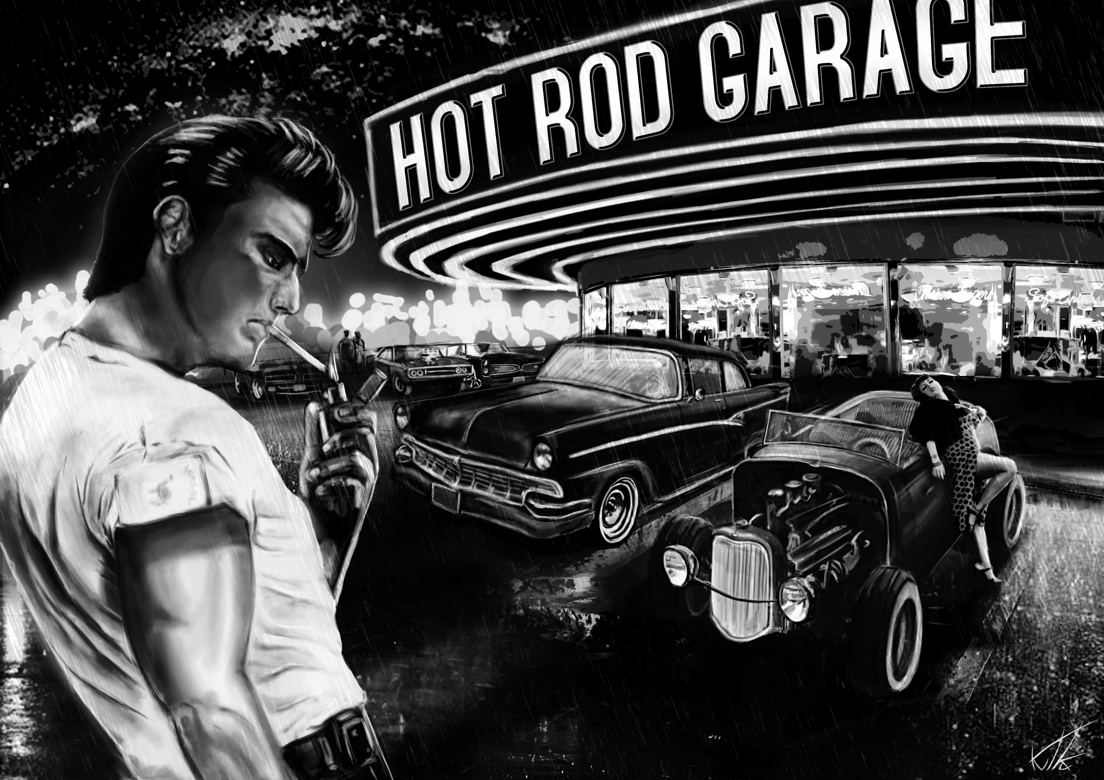 Hot Rod Garage : Tapety hot rod garage